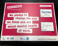 Astra signs Employer's Pledge showing further commitment to support Mental Health Programme for staff