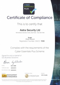 Cyber Essential Plus Accredited
